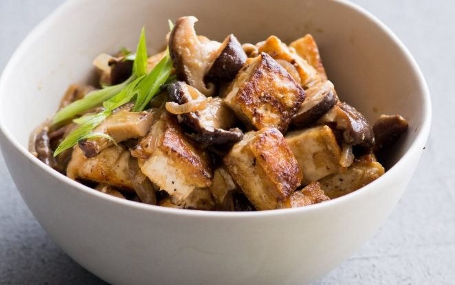 Chinese Tofu And Mushrooms